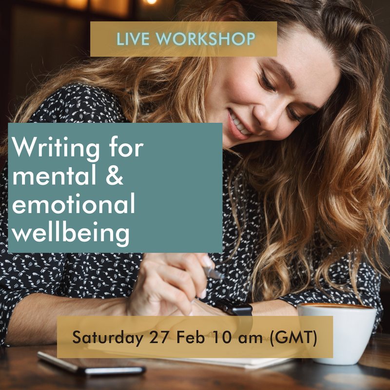 Image for Writing For Emotional & Mental Wellbeing - Live Workshop