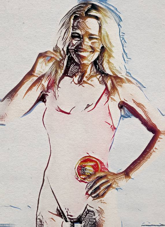 Illustrated image of Pamela Anderson - Baywatch